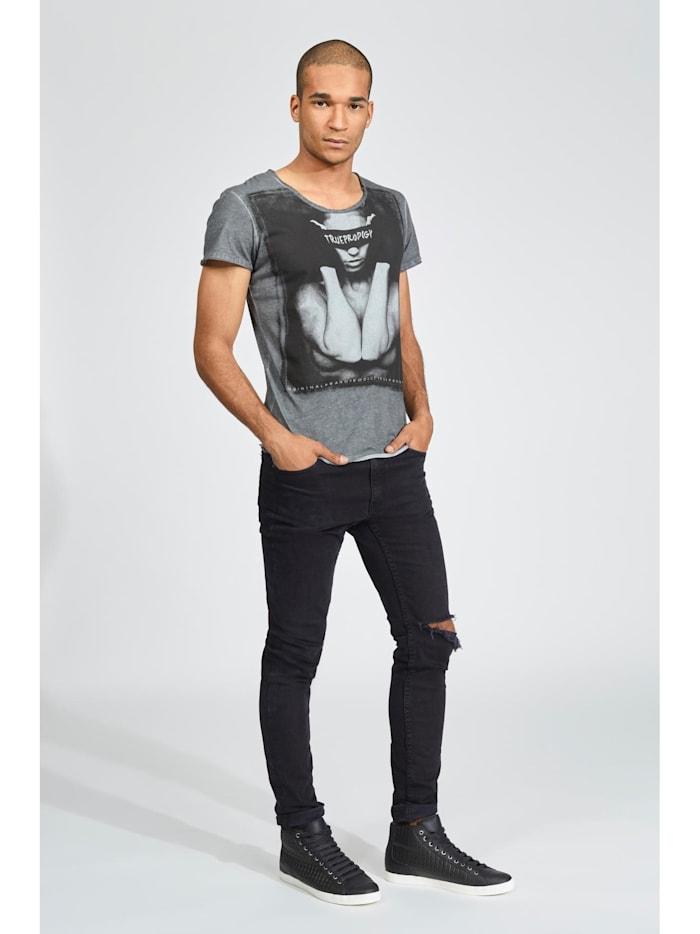 T-Shirt Blindfolded vintage mit stylischem Aufdruck