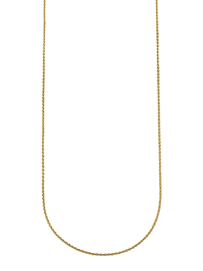 Diemer Gold Halsband i flätad länk, Guldfärgad