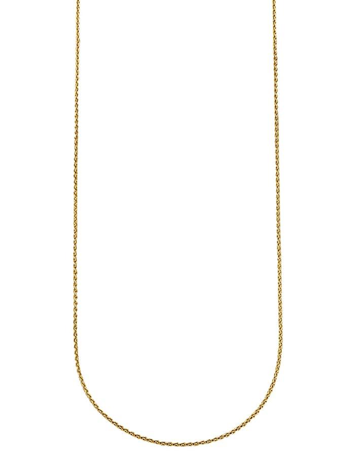 Diemer Gold Kaulaketju / Palmikkoketju, Keltakullanvärinen