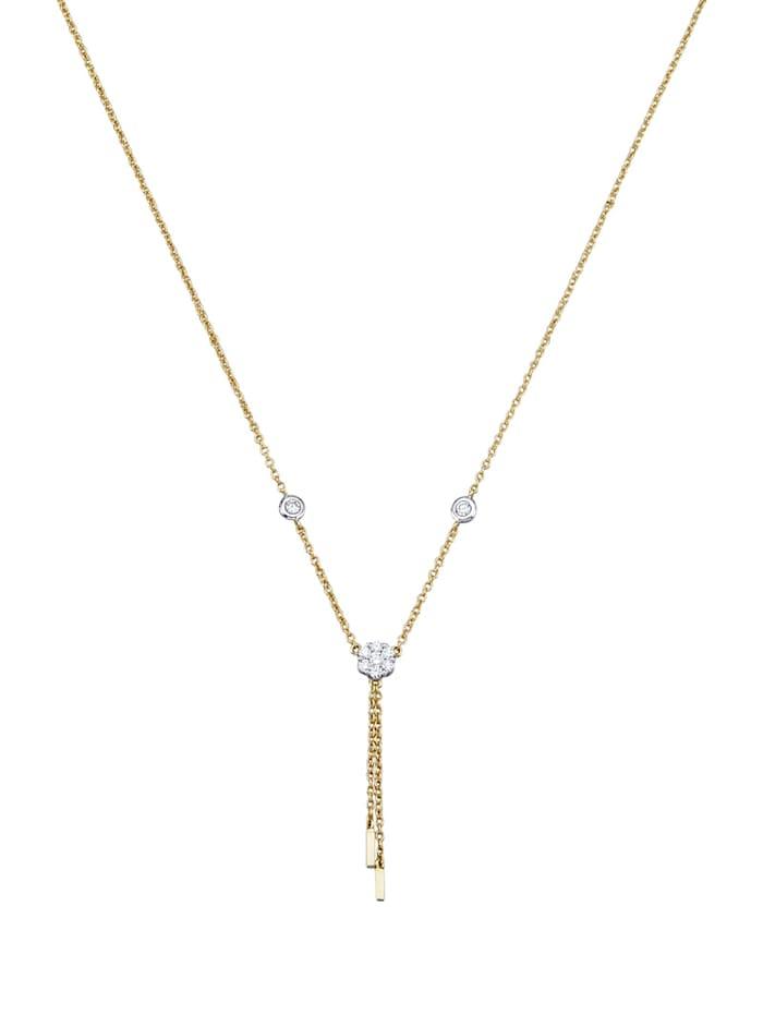Amara Diamants Collier en Y avec brillants, Blanc