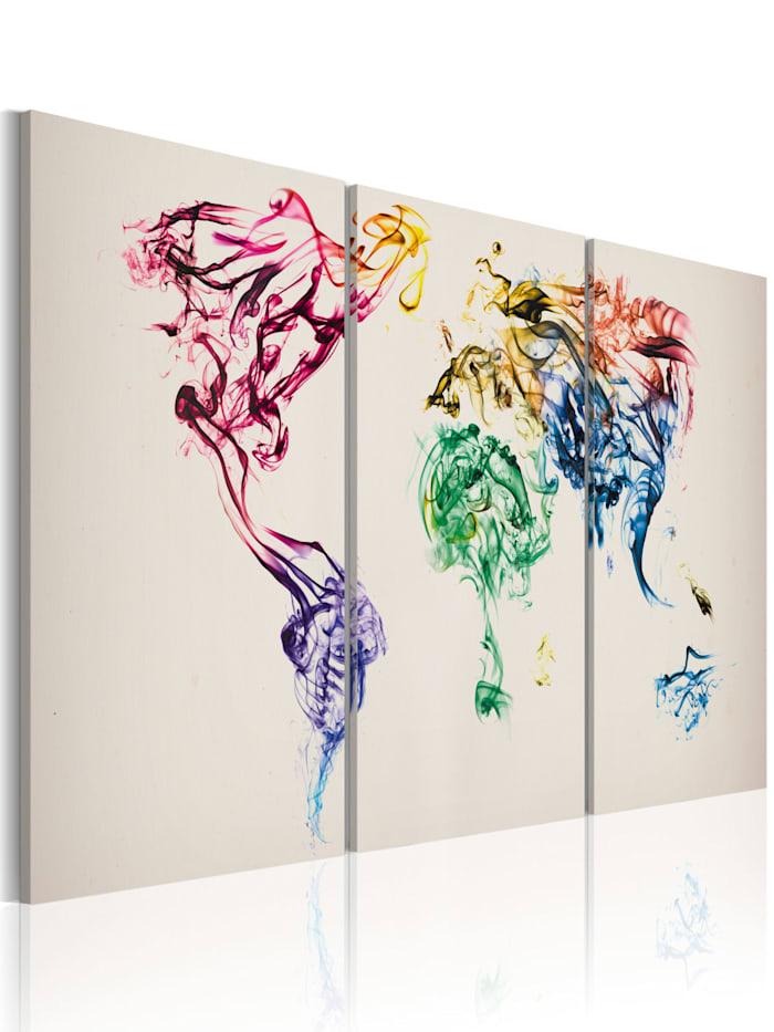 artgeist Wandbild Abstrakte Weltkarte, Grau