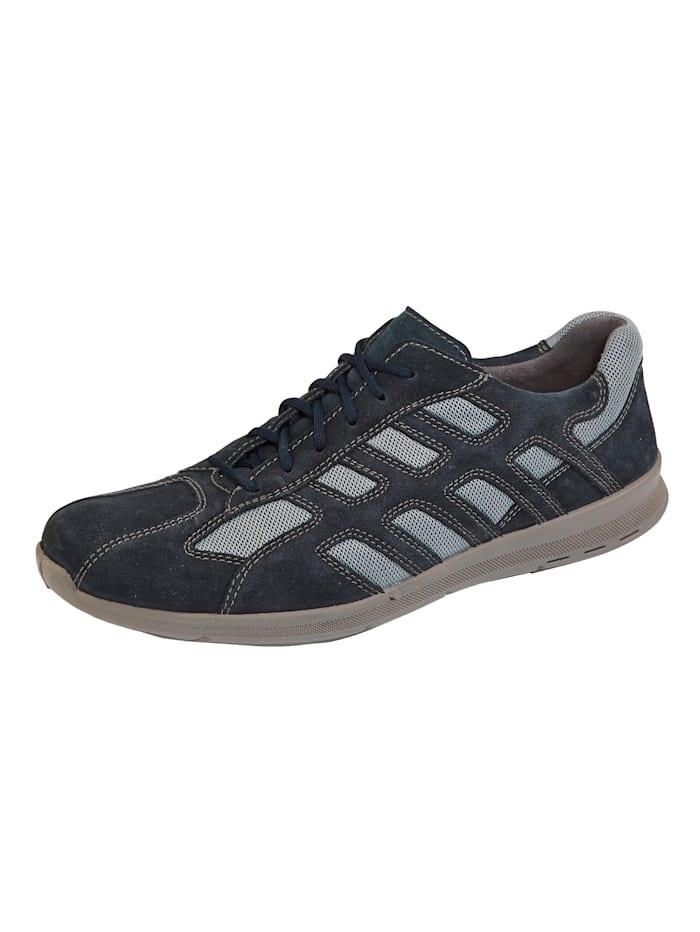 Jomos Šnurovacia obuv so vzdušným mesh materiálom, Tmavomodrá
