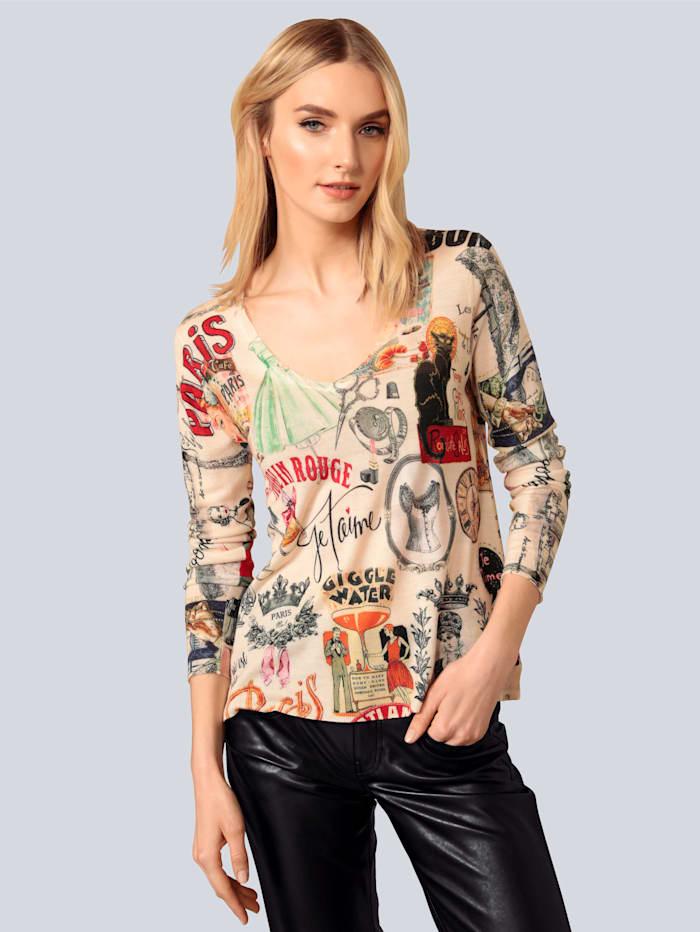 Princess GOES HOLLYWOOD Pullover mit modischem Druck, Off-white