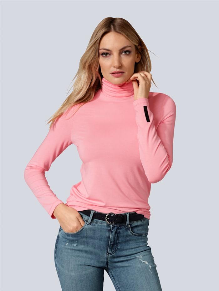BRAX Shirt mit Rollkragen, Rosé