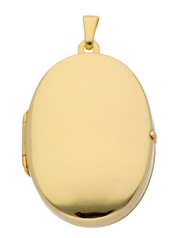 333 Gelbgold Medaillon Anhänger