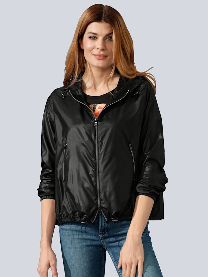 MARGITTES Jacke in sportiver Optik, Schwarz
