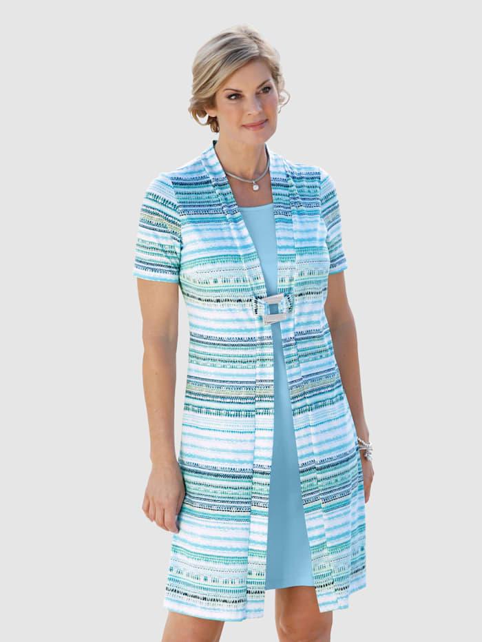 Paola Kleid in 2in1 Optik, Hellblau