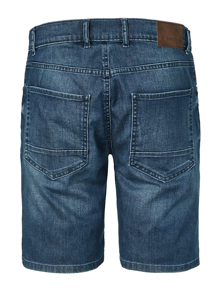 Jeansshorts med avsiktligt slitage