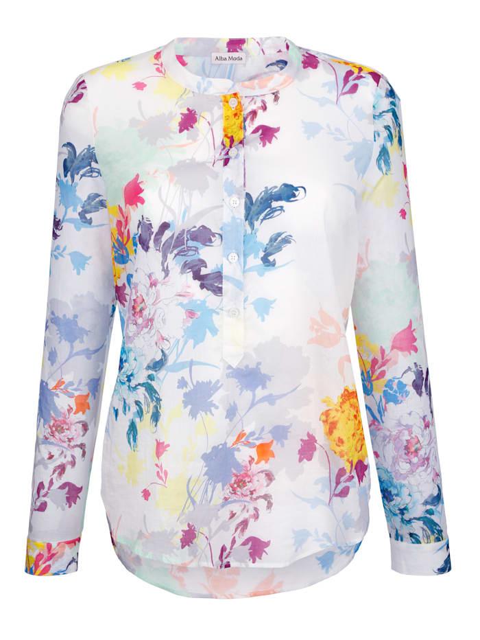 Bluse im farbenfrohen Blütendessin