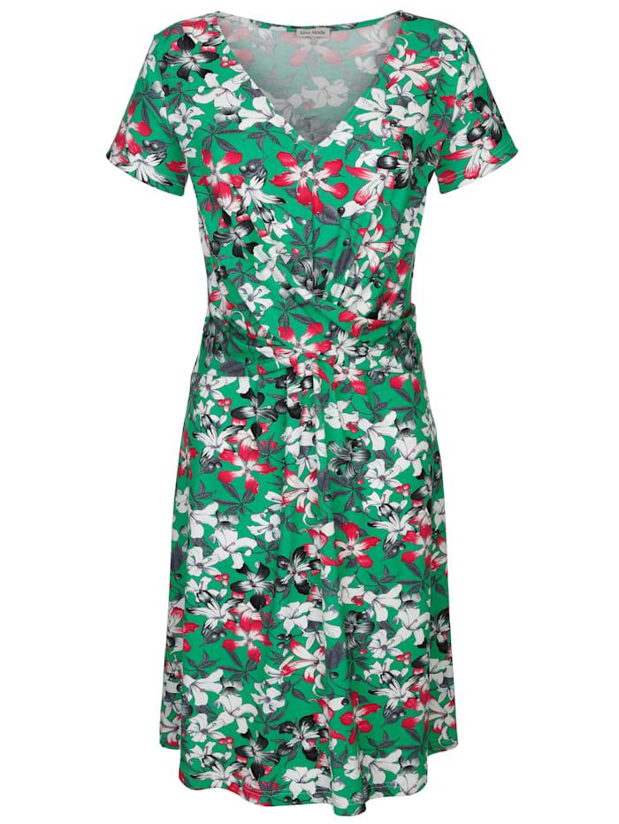 Alba Moda Strandjurk met bloemenprint, groen/multicolor