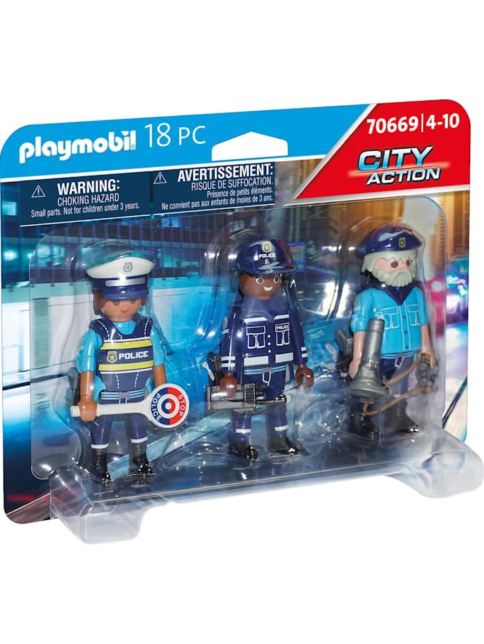 PLAYMOBIL Konstruktionsspielzeug Figurenset Polizei, Bunt