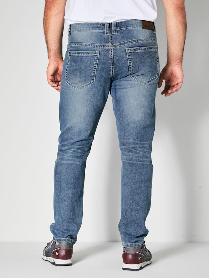Jeans met contrastkleurige naden