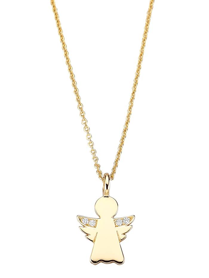 Diemer Diamant Hanger Engel met ketting, Geel