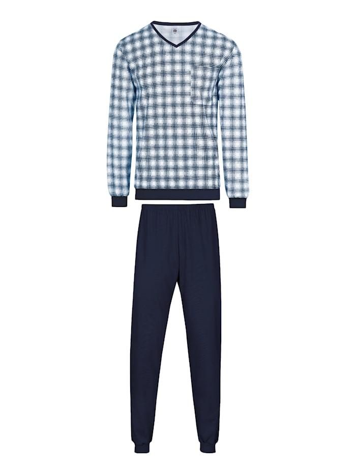 Herren Schlafanzug mit Karo-Muster und langer Hose