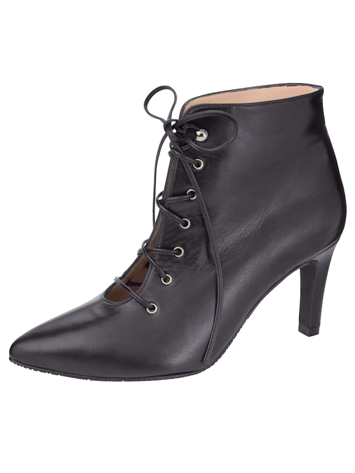 Gennia Lace-up Boots in high-quality nappa leather, Black