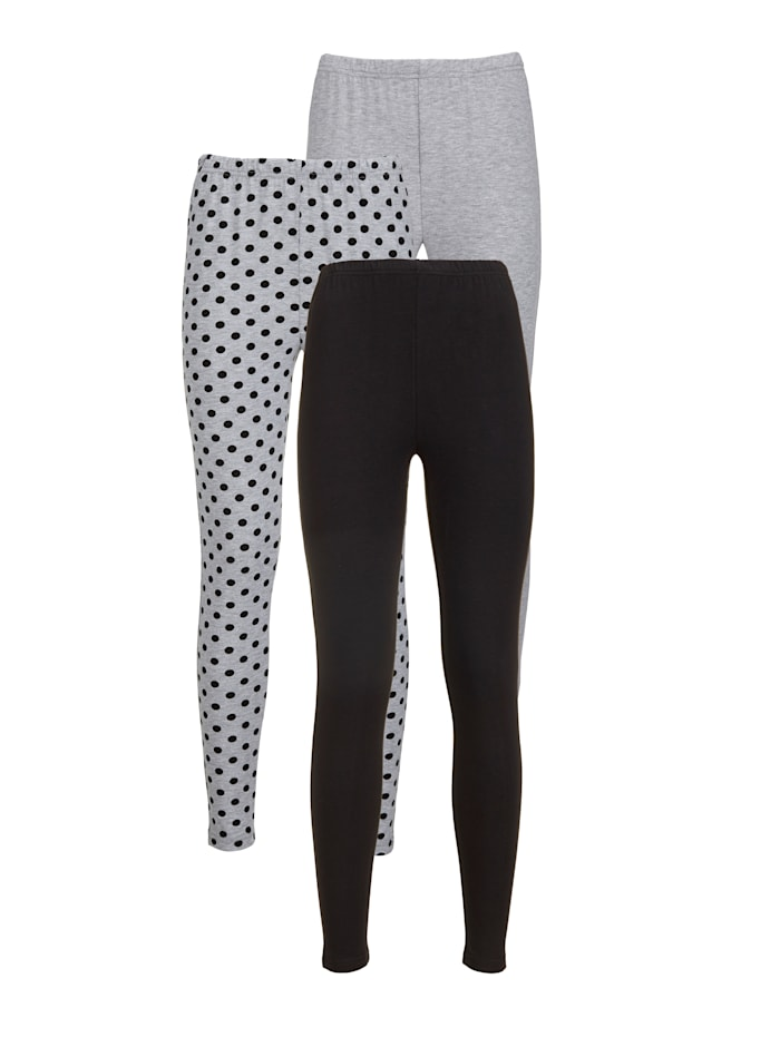 Leggings in modernem Punktdessin 3er Pack