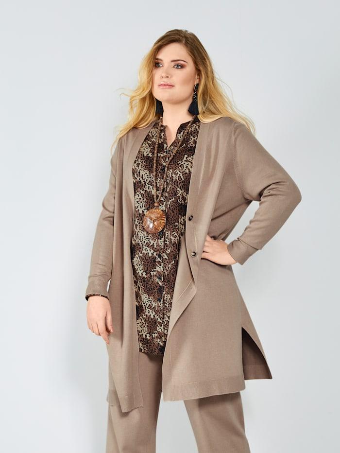 Sara Lindholm Vest in chic model, Camel