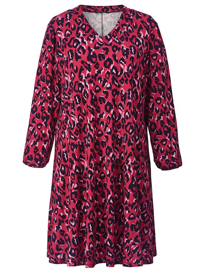 Jersey-Kleid mit Leo-Print