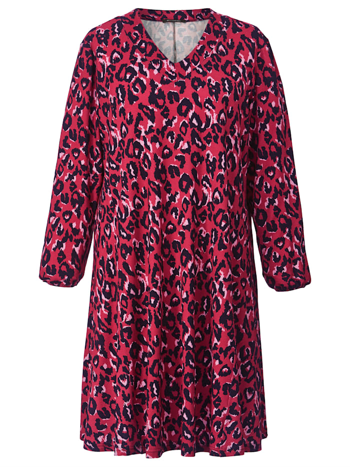 Robe en jersey à imprimé léopard