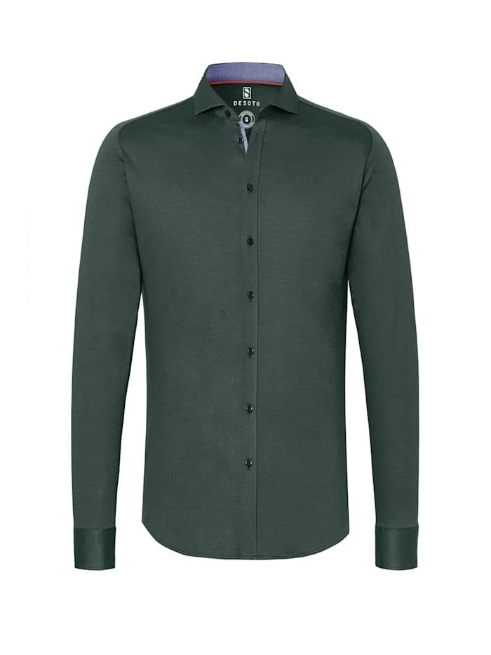 Desoto Bügelfreies Jerseyhemd - made for Movement, Piquee olive
