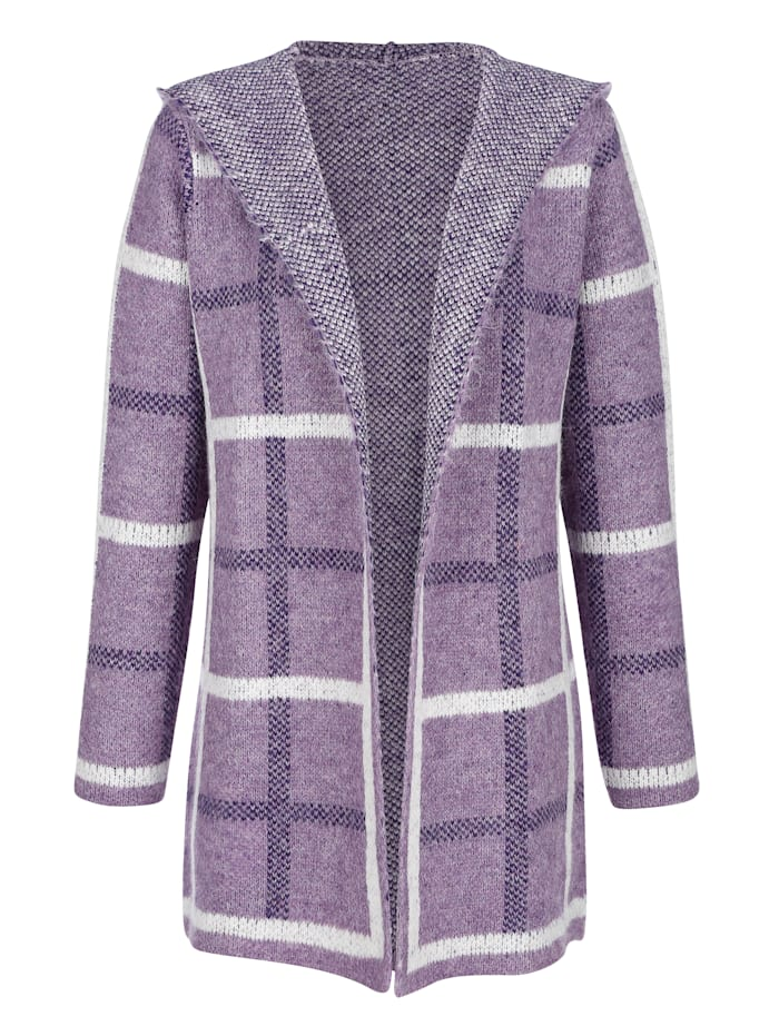 Cardigan in a check pattern