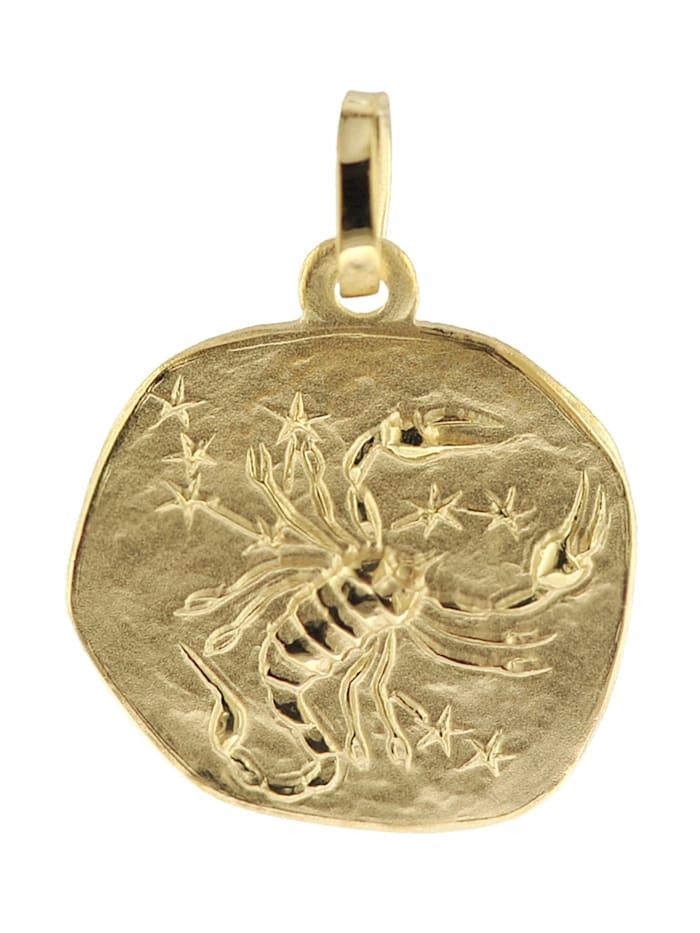 trendor Sternzeichen-Anhänger Skorpion 333 Gold 16 mm, Goldfarben