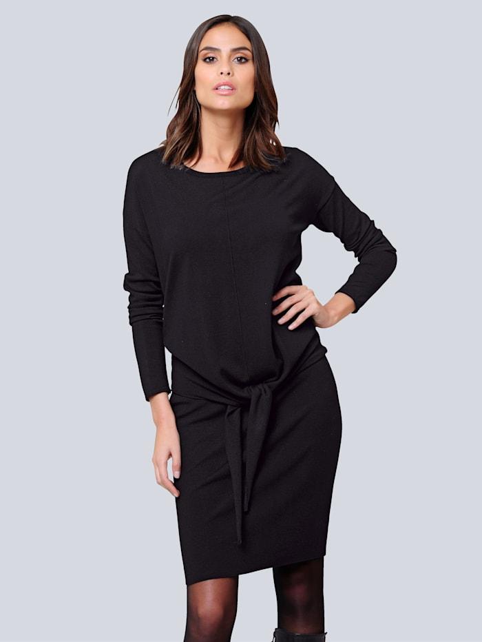 Alba Moda Kleid bestehend aus Tanktopkleid und Oversizedpullover, Schwarz
