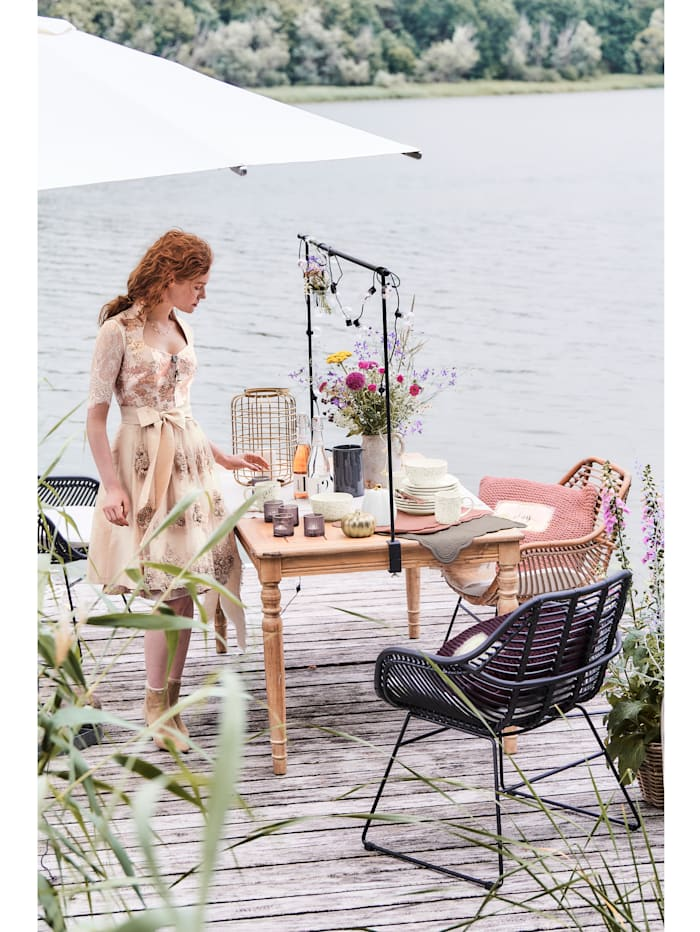IMPRESSIONEN living Outdoor-Stuhl-Set, 2-tlg., natur/weiß