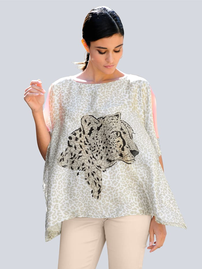 Alba Moda Bluse im exklusiven Dessin, Off-white/Beige/Apricot