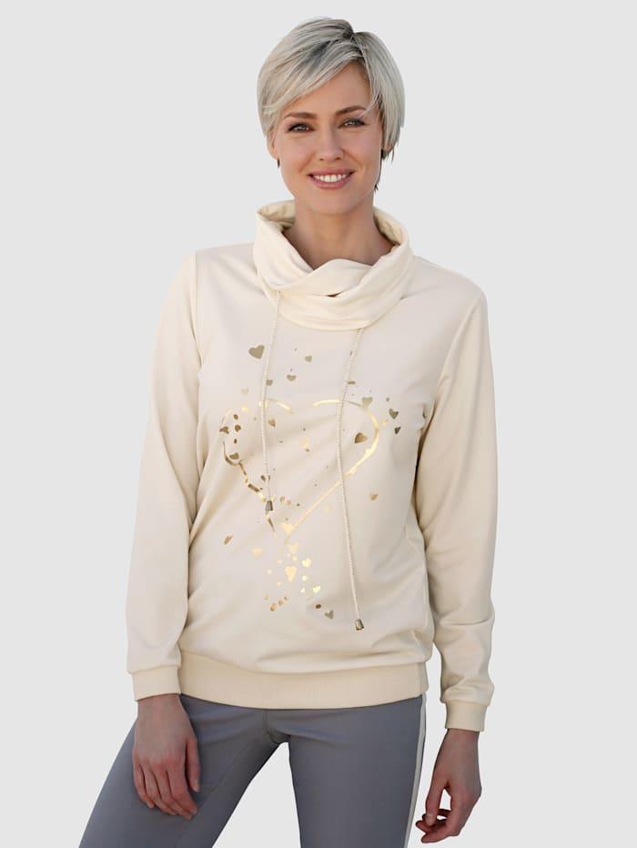 Laura Kent Sweatshirt met folieprint, Ecru
