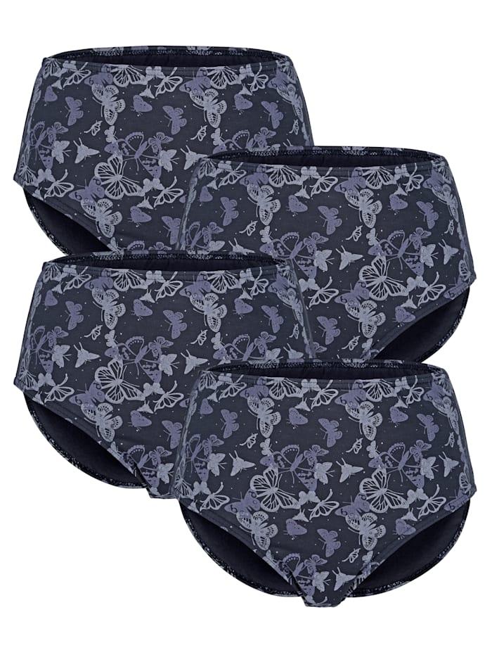Harmony Midjetrosor med tryckt mönster, Marinblå