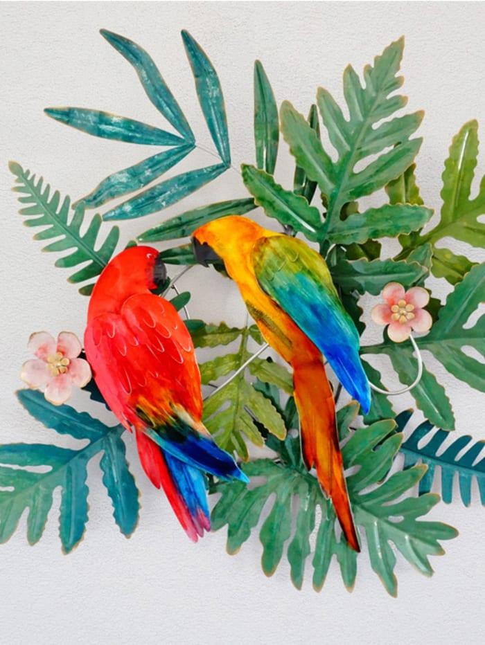 Wandbild 'Papageienpaar', multicolor