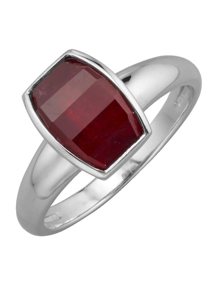 Diemer Farbstein Damenring mit Rubin, Rot