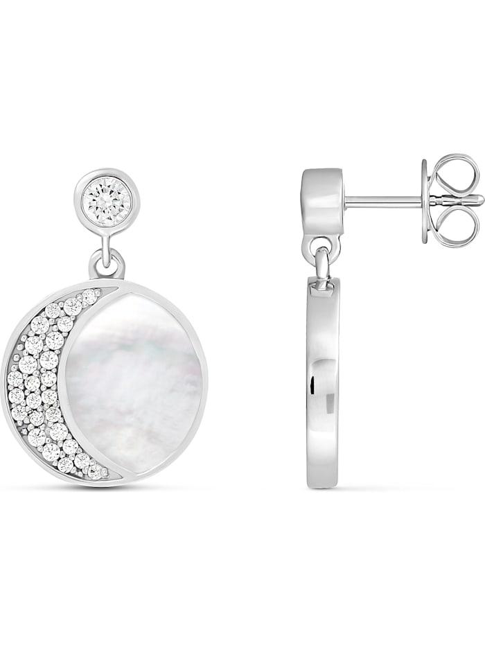 JETTE Damen-Ohrhänger 925er Silber Perlmutt