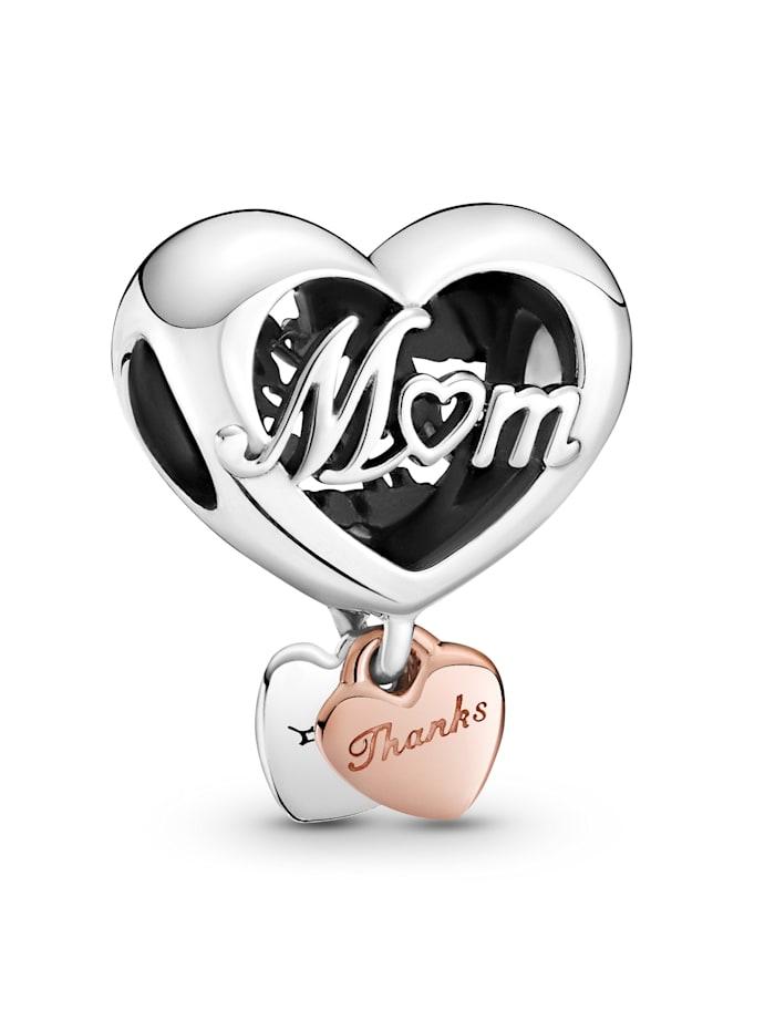 Pandora Charm - Danke Herz Mum - 789372C00, Silberfarben