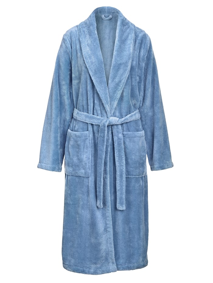 Harmony Ochtendjas van zachte fleece, Blauw