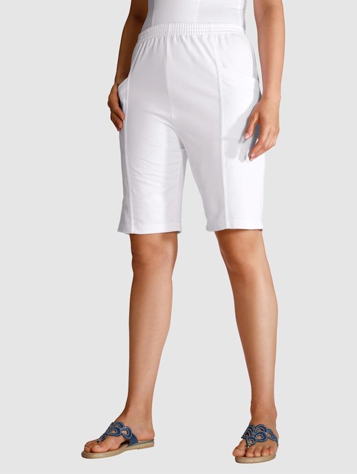 Paola Bermuda in een comfortabele pasvorm, Wit