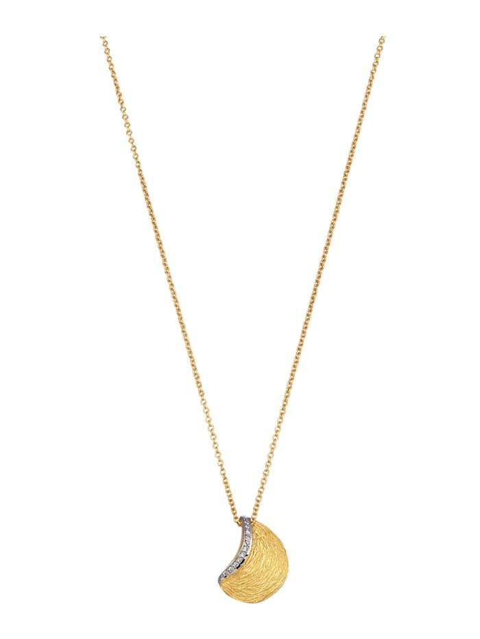 Amara Diamants Pendentif + chaîne avec brillants, Blanc