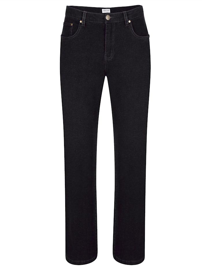 Roger Kent 5-Pocket Jeans in Woll-Optik, Black stone