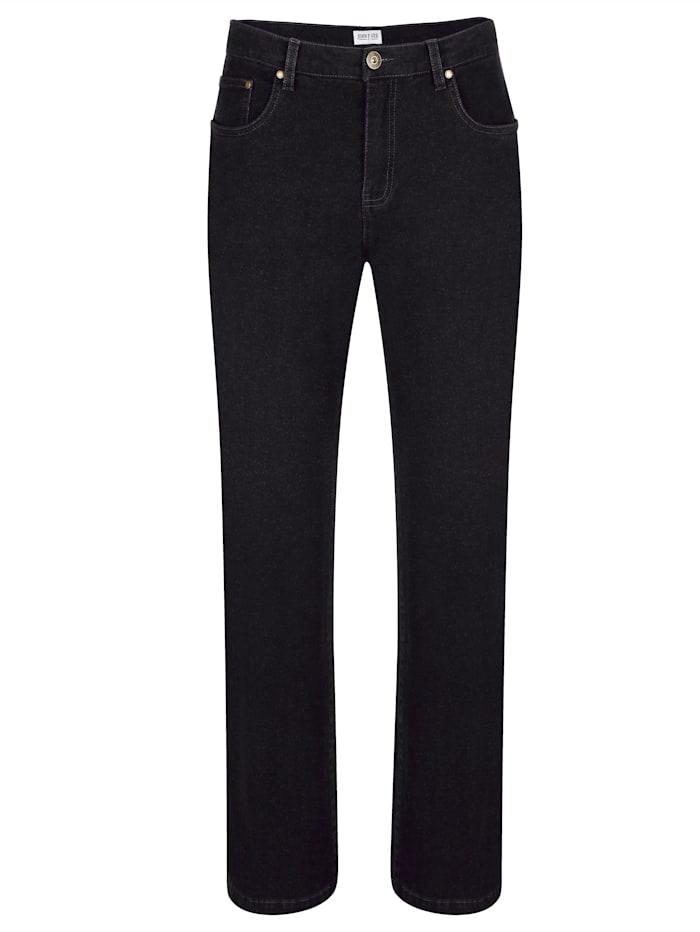 Roger Kent Jeans i mjukt och värmande material, Black stone