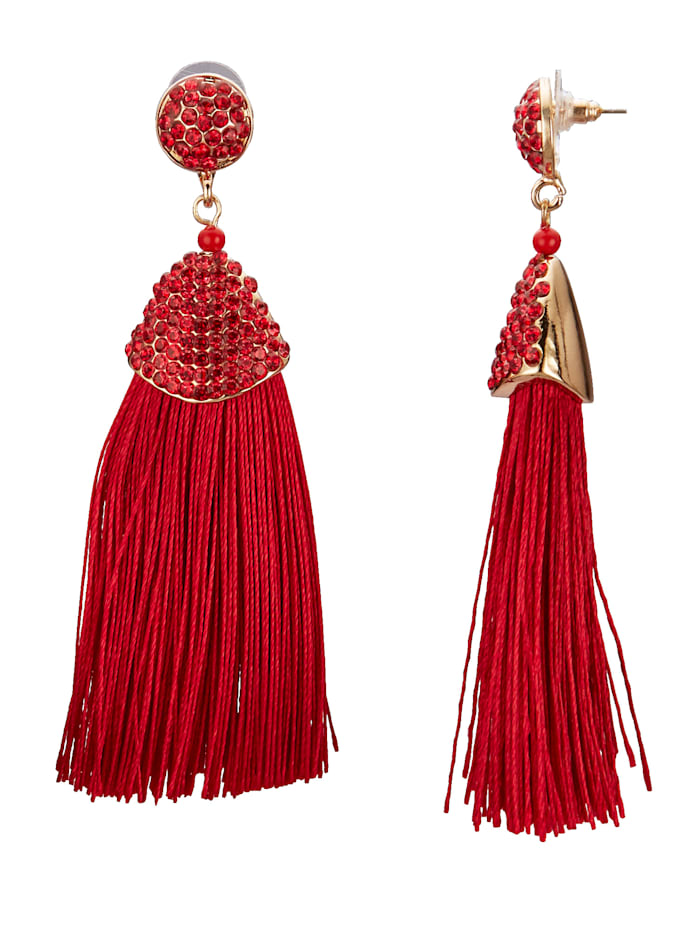 Stud Earrings with Tassels