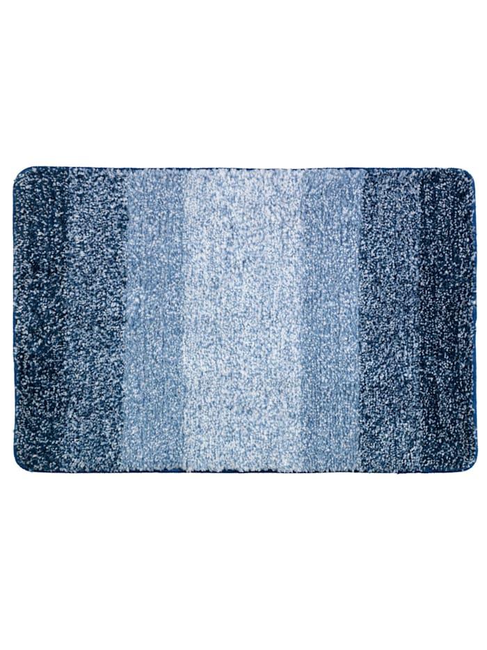 Wenko Badteppich Luso Blau, 60 x 90 cm, Blau
