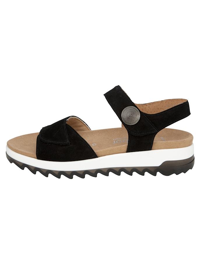 Sandales à plateau avec brides auto-agrippantes réglables