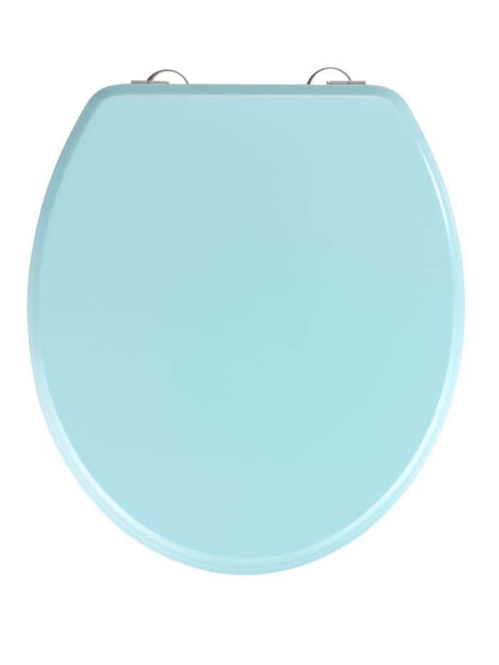Wenko WC-Sitz Prima Hellblau matt, Blau - Hellblau, Befestigung: Silber matt