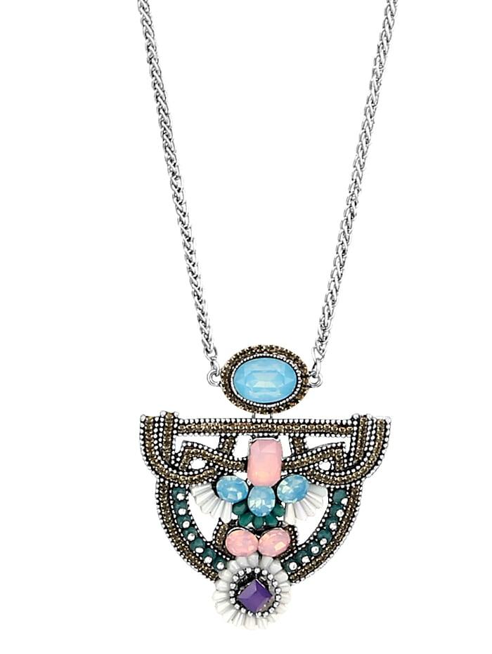 KLiNGEL Halskette mit Glassteinen, Multicolor