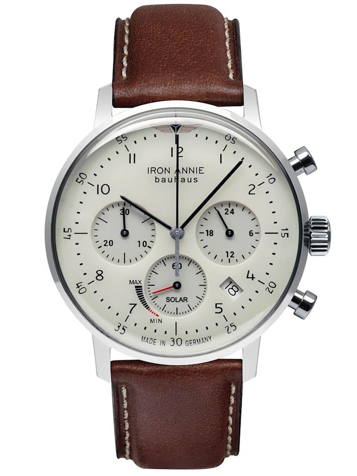 Iron Annie Herren-Armbanduhr Bauhaus Solar Chronograph 5086, beige