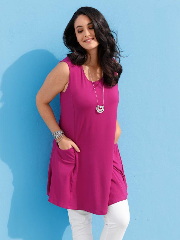MIAMODA Longtop mit seitlichen Taschen, Pink