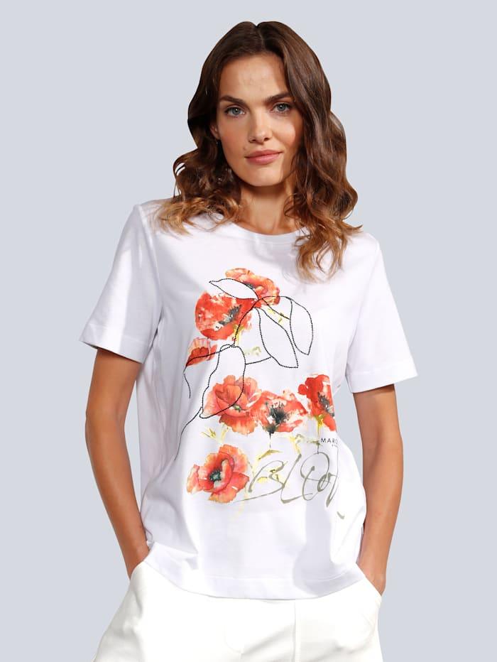 MARGITTES T-Shirt mit tollem Druck, Weiß