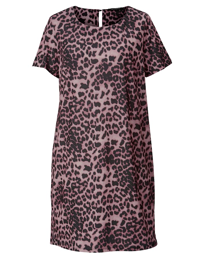 Jerseykleid mit Leopardenmuster