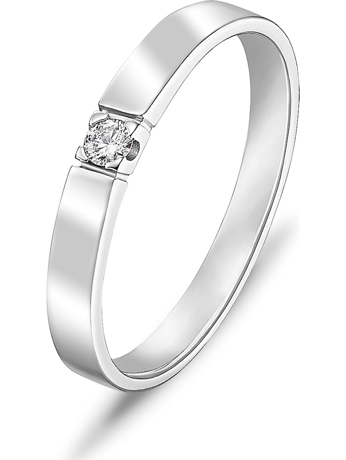 CHRIST Diamonds CHRIST Diamonds Damen-Damenring 1 Diamant, weißgold